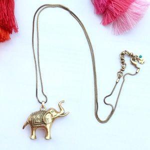 """Lucky Brand 32"""" Elephant Necklace"""